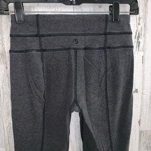Lululemon hi rise grey leggings Size 2 Long